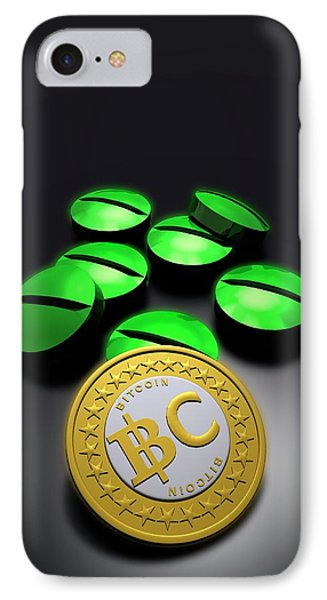 Bitcoin And Medicine IPhone Case by Victor Habbick Visions