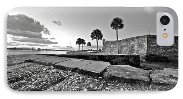 Black And White Castillo De San Marcos View 5 IPhone Case