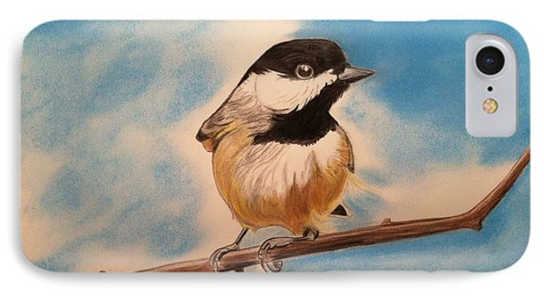 Black Capped Chickadee IPhone Case by Tony Clark