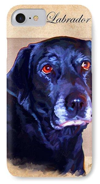 Black Labrador Art IPhone Case by Iain McDonald