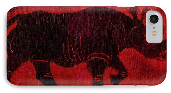 Black Rhino IPhone Case by Larry Campbell
