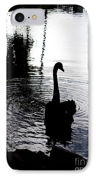 Black Swan IPhone Case by Roselynne Broussard