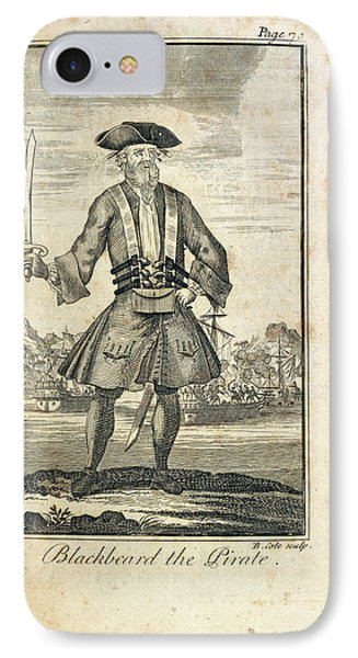 Blackbeard The Pirate IPhone Case by British Library