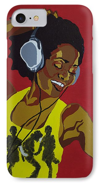IPhone Case featuring the painting Blame It On The Boogie by Rachel Natalie Rawlins