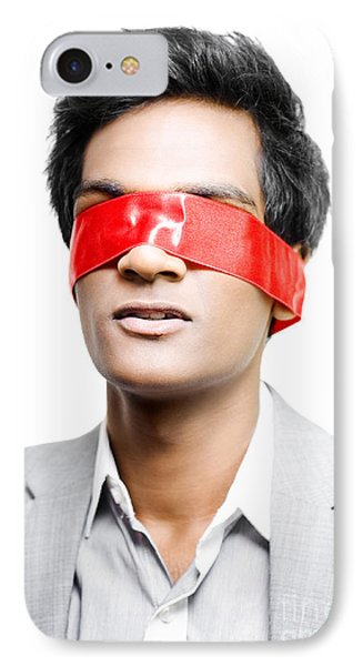 Blinded By Red Tape Or Held To Ransom IPhone Case by Jorgo Photography - Wall Art Gallery