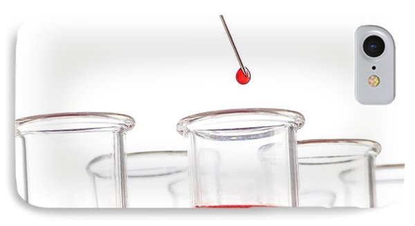 Blood Sample And Test Tubes IPhone Case by Science Photo Library