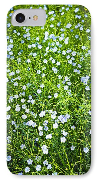 Blooming Flax  IPhone Case by Elena Elisseeva
