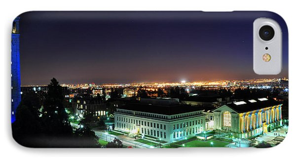 Blue Campanile And Doe Library IPhone Case