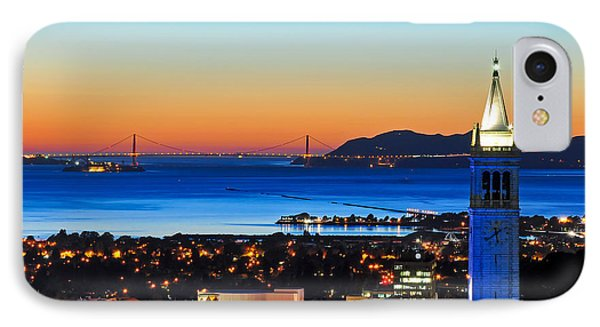 Blue Campanile And Golden Gate At Sunset IPhone Case