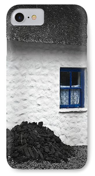 IPhone Case featuring the photograph Blue Cottage Window by Jane McIlroy