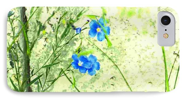 IPhone Case featuring the photograph Blue Flower by Michael Dohnalek