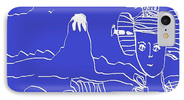 IPhone Case featuring the painting Blue Geisha by Don Koester