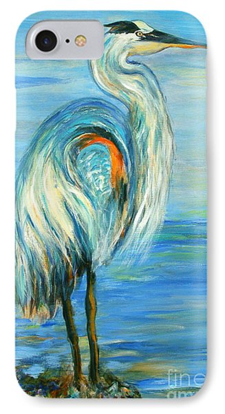IPhone Case featuring the painting Blue Heron I by Ellen Anthony