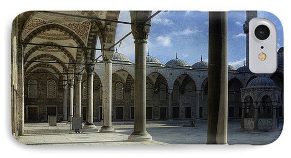 Blue Mosque Courtyard Phone Case by Joan Carroll