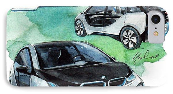 Bmw I3 Concept Car IPhone Case by Yoshiharu Miyakawa