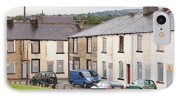 Boarded Up Terraced Houses In Burnley IPhone Case