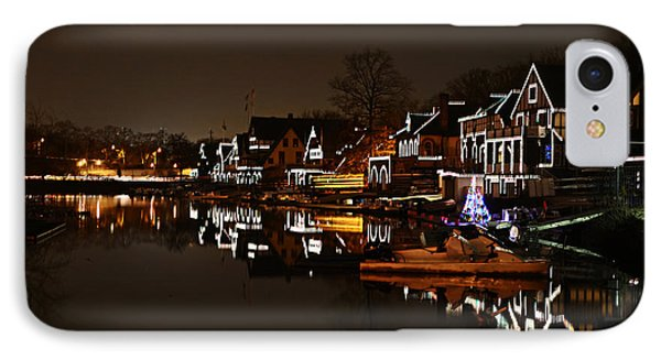 Boathouse Row Lights Phone Case by Bill Cannon