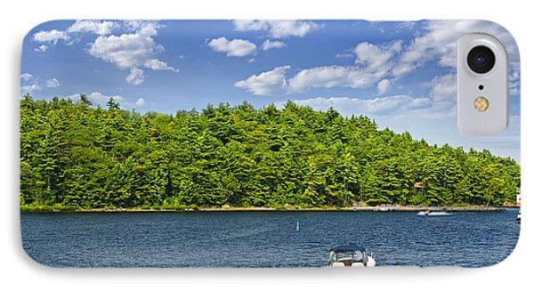 Boating On Lake IPhone Case