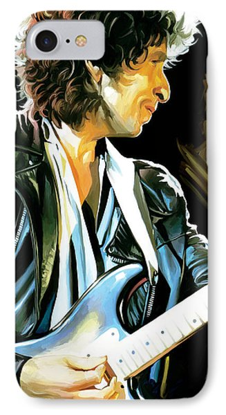 Bob Dylan Artwork 2 IPhone 7 Case by Sheraz A
