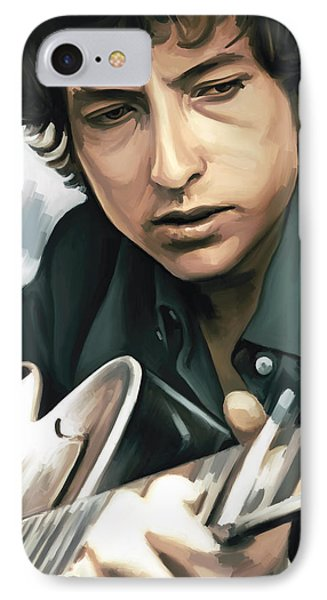Bob Dylan Artwork IPhone Case by Sheraz A
