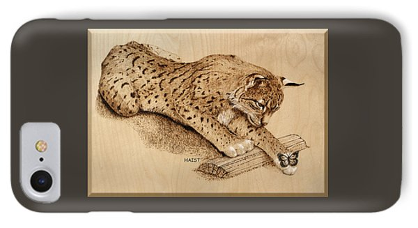 Bobcat And Friend IPhone Case by Ron Haist