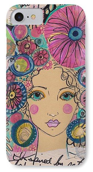 Boho Flower Girl  IPhone Case