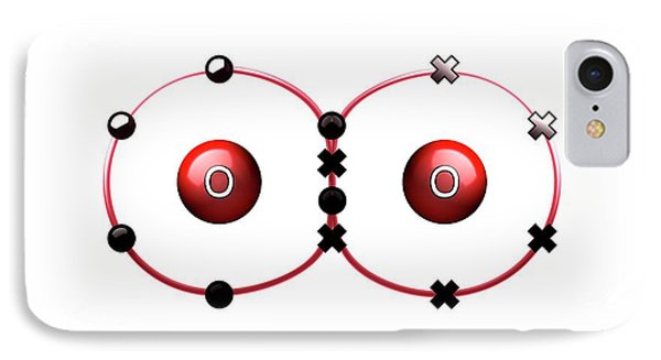 Bond Formation In Oxygen Molecule IPhone Case by Animate4.com/science Photo Libary