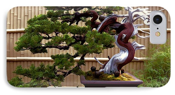 Bonsai Tree And Bamboo Fence IPhone Case