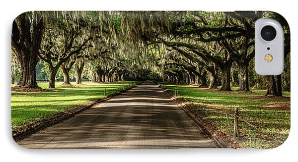 IPhone Case featuring the photograph Boone Plantation Road by John Johnson
