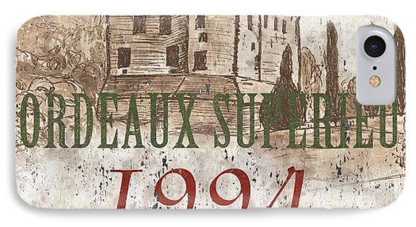 Bordeaux Blanc Label 2 IPhone Case by Debbie DeWitt