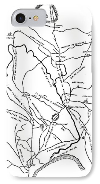 Boston-concord Map, 1775 Phone Case by Granger