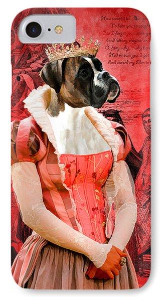 Boxer Art Canvas Print IPhone Case