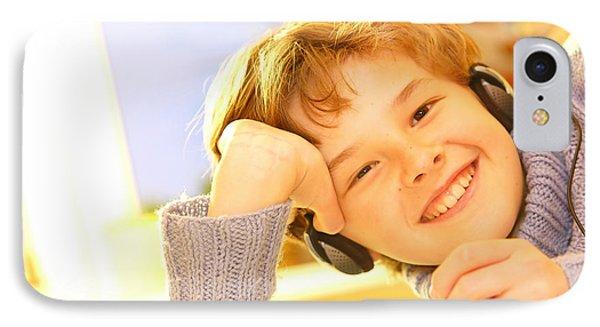 Boy Listen To Music Phone Case by Michal Bednarek