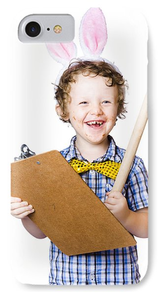 Boy Writing Easter List IPhone Case by Jorgo Photography - Wall Art Gallery
