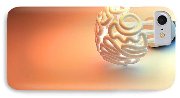 Brain Flourescent Light Bulb IPhone Case by Allan Swart