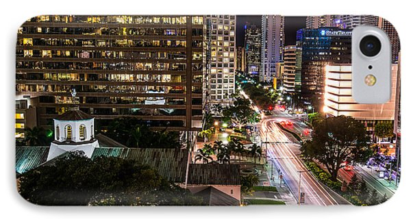 Brickell Ave Downtown Miami  Phone Case by Michael Moriarty