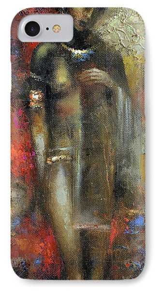 IPhone Case featuring the painting Bride Maya by Dmitry Spiros
