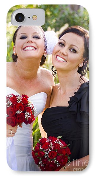 Bride With Maid-of-honor IPhone Case by Jorgo Photography - Wall Art Gallery
