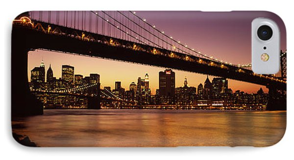 Bridge Across The River, Manhattan IPhone Case by Panoramic Images