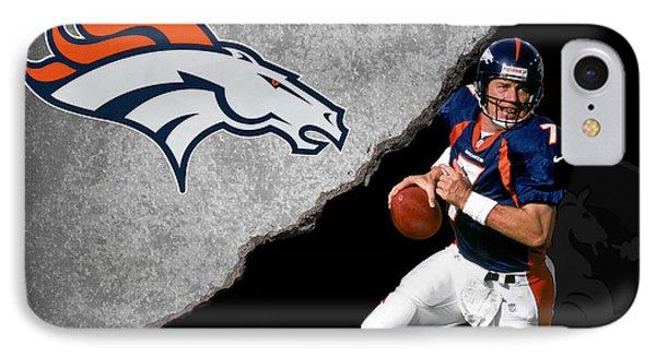 Broncos John Elway IPhone Case by Joe Hamilton