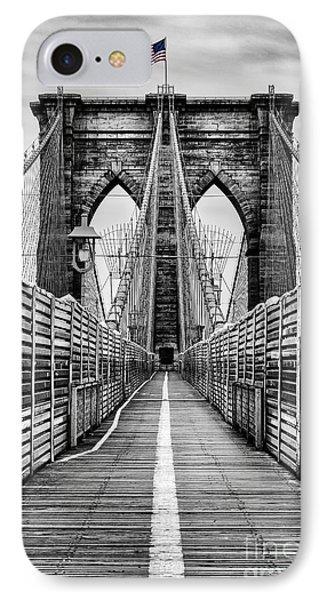 Brooklyn Bridge IPhone Case by John Farnan