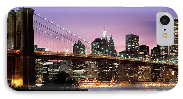 Brooklyn Bridge New York Ny Usa IPhone Case by Panoramic Images