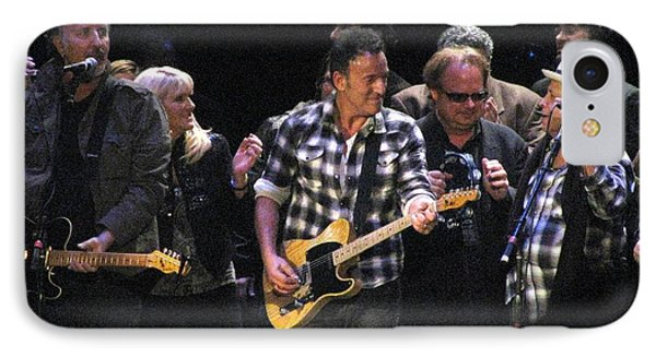 Bruce Springsteen Phone Case by Melinda Saminski