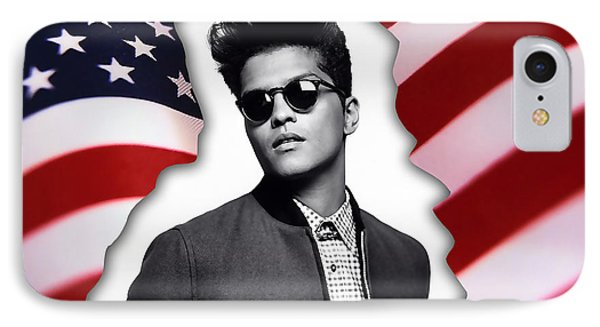 Bruno Mars IPhone 7 Case by Marvin Blaine