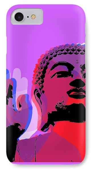 IPhone Case featuring the digital art Buddha Pop Art - Warhol Style by Jean luc Comperat