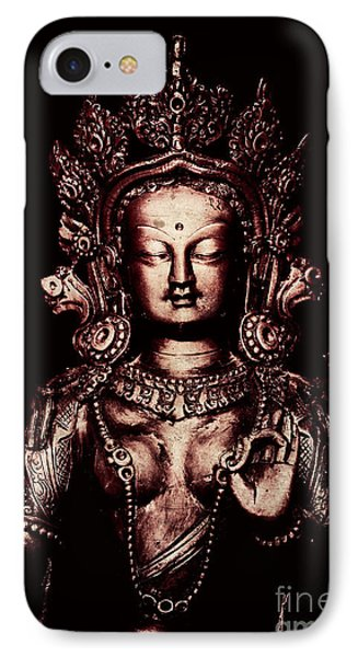 Buddhist Tara Deity IPhone Case by Tim Gainey
