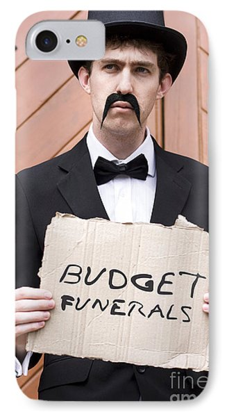 Budget Funerals IPhone Case by Jorgo Photography - Wall Art Gallery