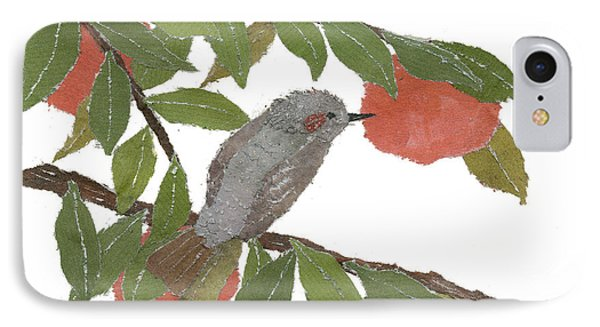 Bulbul And Persimmon  Phone Case by Keiko Suzuki