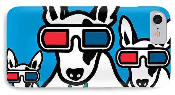 Bull Terrier IPhone Case by Mark Ashkenazi