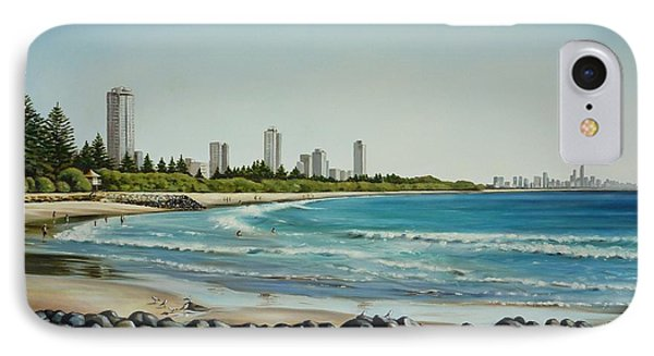 Burleigh Beach 210808 Phone Case by Selena Boron